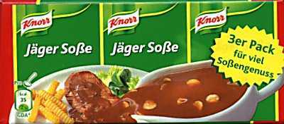Knorr Jager sauce Box