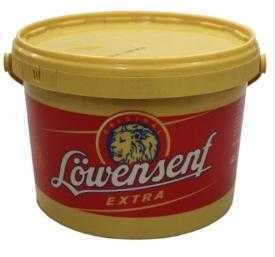 Lowensenf 5.5lb buckets Hot Mustard