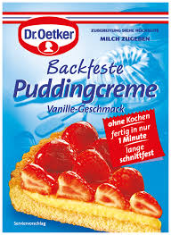 Dr Oetker Backfeste Puddingcreme