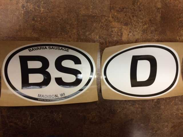 German D and B.S. Stickers