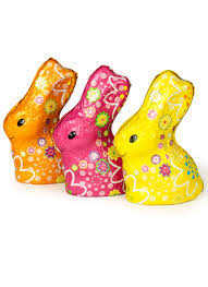 Colorful Chocolate Easter Bunny