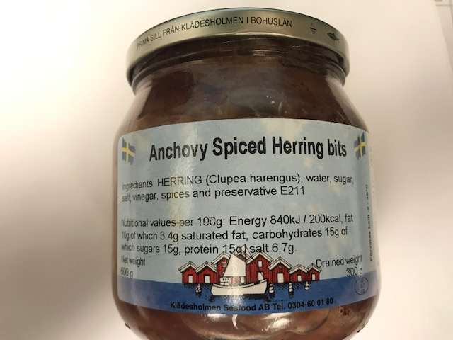 Klades Holmen Anchovy Spiced Herring Bits