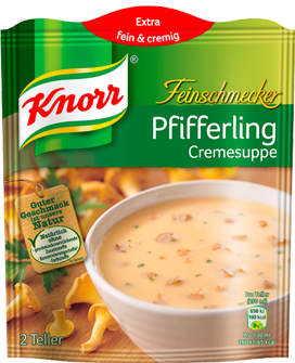 Knorr Feinschmecker Pfifferling Cremesuppe